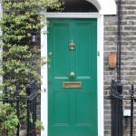 green-timber-door