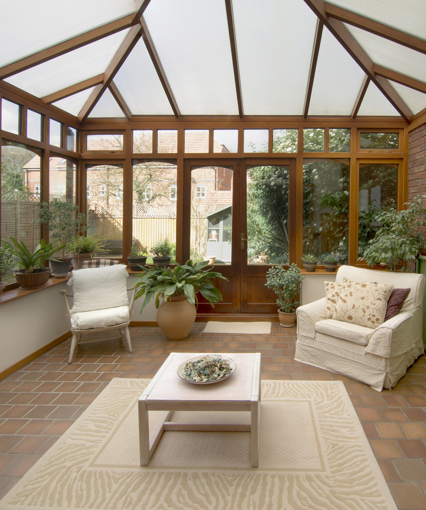 Wood timber oak mahogany conservatories huddersfield for Timber garden rooms